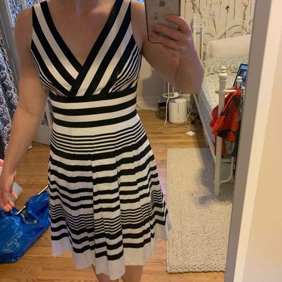 White House Black Market Dresses & Skirts - White House black market striped a line dress